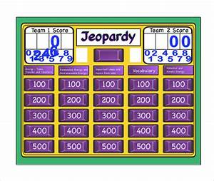 sample jeopardy game template 6 download documents in With jeopardy online game template