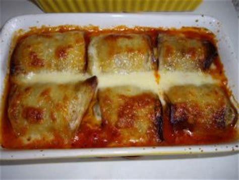 recette de cuisine avec aubergine roulé d aubergine à la viande hachée et mozzarella les