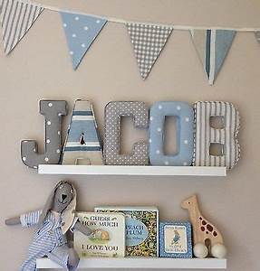 nursery letters for wall ideas thenurseries With baby name letters for wall ideas