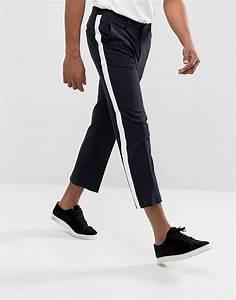 Pantalon Avec Bande Sur Le Coté : asos design asos design pantalon court droit habill ~ Melissatoandfro.com Idées de Décoration