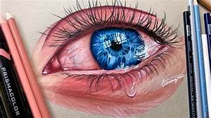 Realistic Crying Eye Drawing