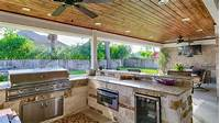 pictures of outdoor kitchens The Woodlands Outdoor Kitchen & Covered Patio Construction