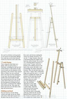 making   large diy easel plans   artists easel  easel   freestanding  legged