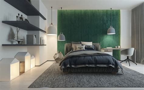 modern uncluttered boys room design   shades
