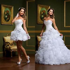 elegant sweetheart lace two piece wedding dresses 2015 With mini skirt wedding dress