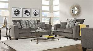 Austwell Gray 5 Pc Living Room - Living Room Sets (Gray)