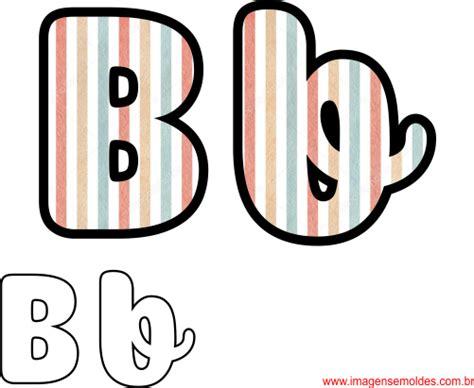 molde da letra b cursiva