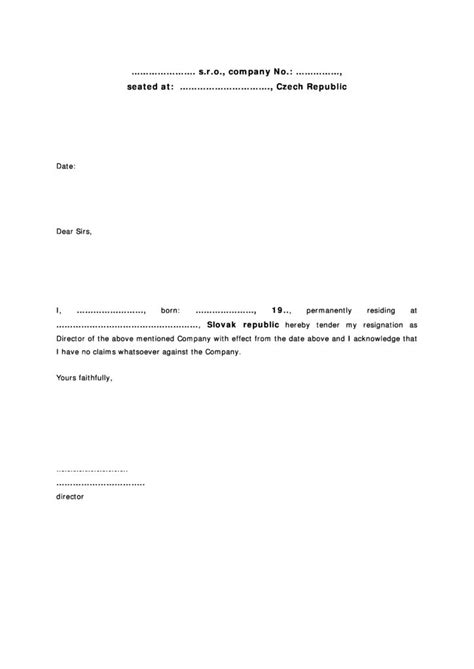 Resignation Letter Template Czech Republic Here's What No One Tells You About Resignation Letter