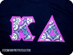 kappa delta kd stitched greek sorority by With delta zeta stitched letters