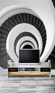 Modern Creative 3D Custom Photo Mural Wallpaper Black And ...