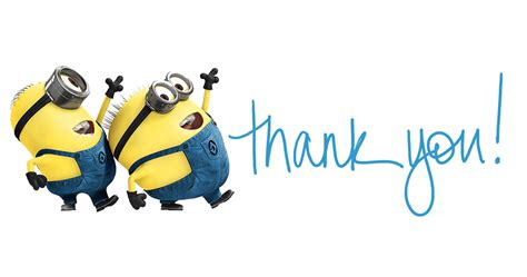 Thank You Minions Transparent Png Stickpng