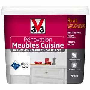 Peinture Pour Renover Les Meubles De Cuisine : peinture r novation meubles de cuisine satin ~ Premium-room.com Idées de Décoration