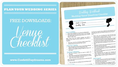 wedding venue checklist wedding planning archives page 3 of 3 confetti daydreams wedding