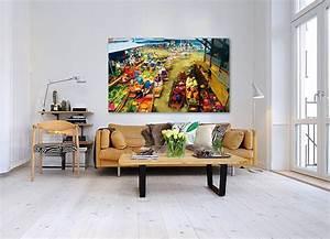 Tableau Moderne Salon : tableau moderne salon maison design ~ Teatrodelosmanantiales.com Idées de Décoration