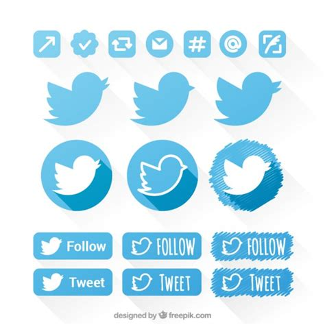 Twitter Home Screen Template by Twitter Icons Set Vector Free Download