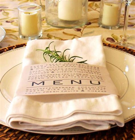 shabby chic wedding reception food ideas printable napkin ring menu weddings thanksgiving dinner parties shabby chic farmhouse