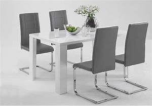 Esstisch Weiß Grau : stuhl linda ii josy 4er set grau esstisch wei hochglanz ~ Markanthonyermac.com Haus und Dekorationen