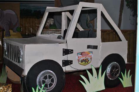 camp kilimanjaro jeep vbs  kids jeep cardboard