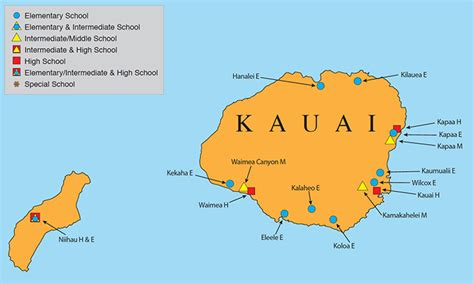 hawaii doe kauai map