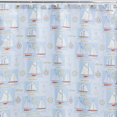 Creative Bath Shower Curtains by Creative Bath Sailing Shower Curtain Walmart