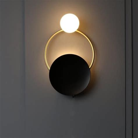 ring gold mat brass wall sconce globe sconce minimal