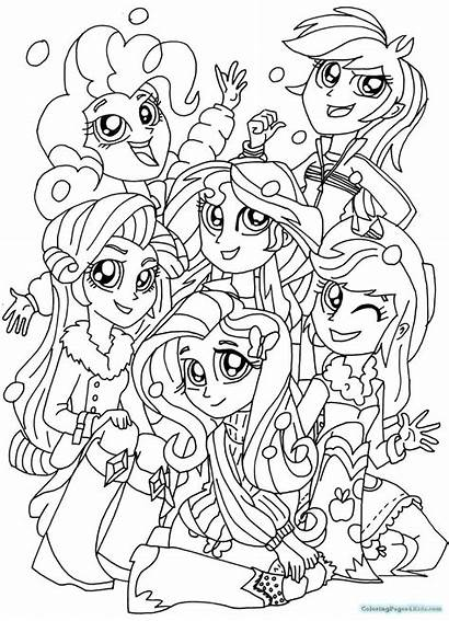 Sunset Drawing Shimmer Coloring Pony Pages Equestria