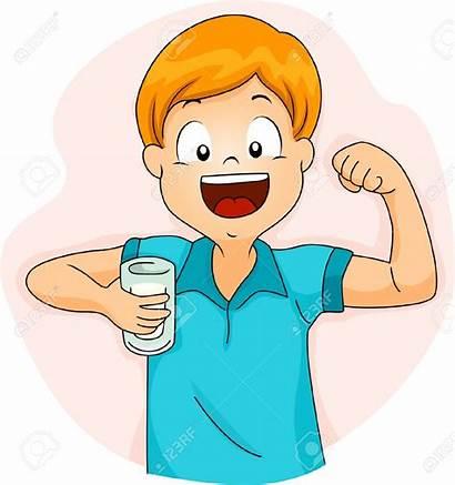 Drinking Milk Clipart Boy Clip Illustration Strong