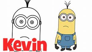 How to draw Minions from Despicable Me 2 Kevin step by ...