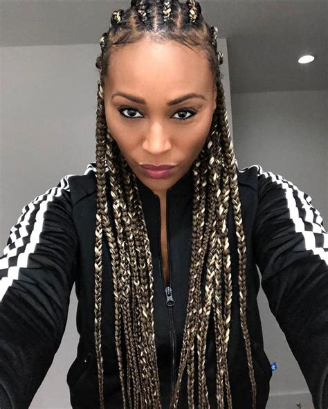 Hairstyles In Braids by Cynthia Bailey Looks Gorgeous In New Braided Hairstyle