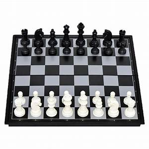 Portable Travel Magnetic Wooden Board Tournament Chess Set