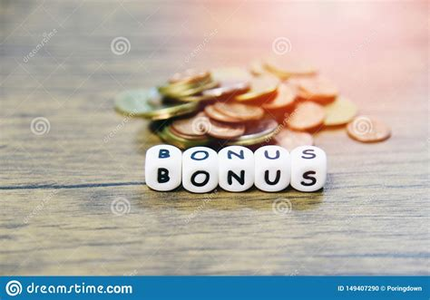 Yearly Bonus Concept / Words Of Bonus And Stack Coins ...