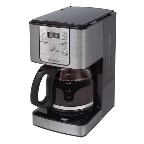 Sunbeam #3279 4 cup commercial coffee maker in white/black, nrfb $25.00 $11.29 shipping sunbeam mid century atomic 12 to 30 cup stainless steel electric percolator. Sunbeam® 12-Cup Programmable Coffeemaker, Smoke Pearl ...