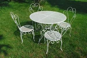 Table Fer Forgé Jardin : table de jardin fer forge maison design ~ Teatrodelosmanantiales.com Idées de Décoration