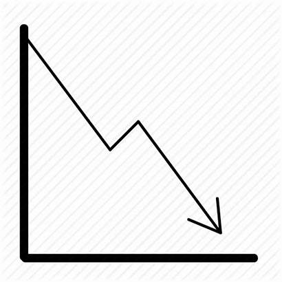 Graph Decrease Decline Drop Icon Market Statistics