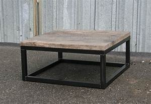 Combine 9 industrial furniture reclaimed wood coffee table for Reclaimed lumber coffee table