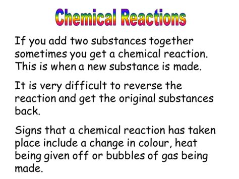 is it a chemical reaction by chemistry teacher teaching