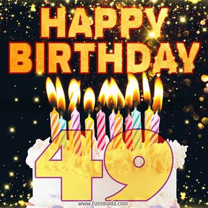 49th Birthday Happy Cake Funimada