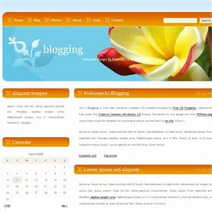 blogging free website templates in css html js format With homepage template free download