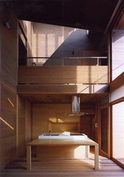 japanese wooden houses courtyard multi level decks   loft modern house designs