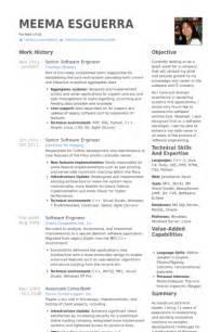 senior software developer resume format ing 233 nieur logiciel senior exemple de cv base de donn 233 es des cv de visualcv