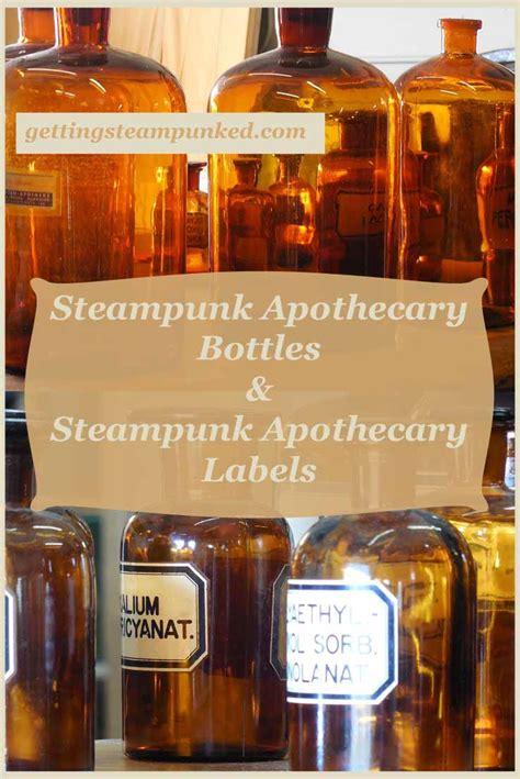 steampunk apothecary bottles printable apothecary labels