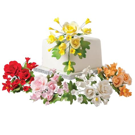 sugar flowers gum paste flowers decorations ny cake