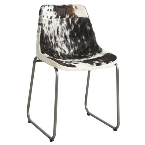 chaise noir et blanche chaise en peau de vache et blanche mch1410c