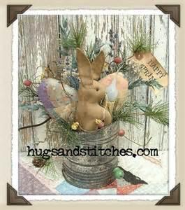1033 bunny quilt egg sifter easter primitive