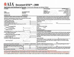 g732 2009 formerly g702cma 1992 application and With aia document g702 cma