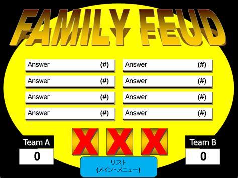 family feud powerpoint templates  teachers