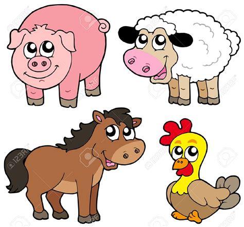 cartoon clipart farm animal pencil   color cartoon