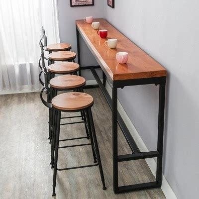 kitchen bar table against wall retro leisure cafes against the wall bar table home high