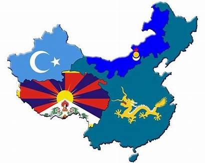 China Tibet Turkestan East Inner Map Uyghur