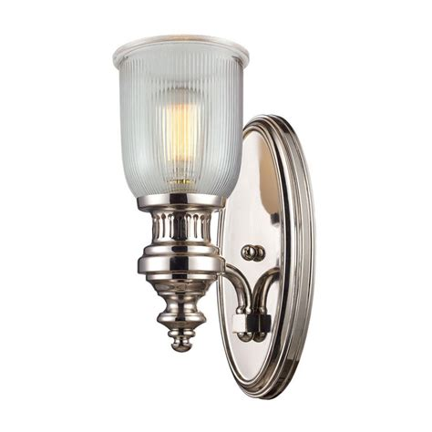 polished nickel sconces titan lighting chadwick 1 light polished nickel wall mount